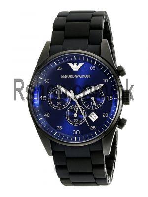 Emporio Armani Sportivo Chronograph Black Silicone Watch Price in Pakistan