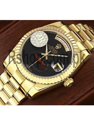 Rolex Day-Date Onyx Dial Swiss Watch