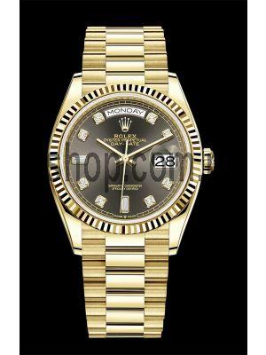 Rolex Day-Date  Yellow Gold Swiss Watch