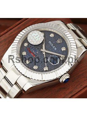 Rolex Datejust Diamond Blue Computer Dial Swiss Watch