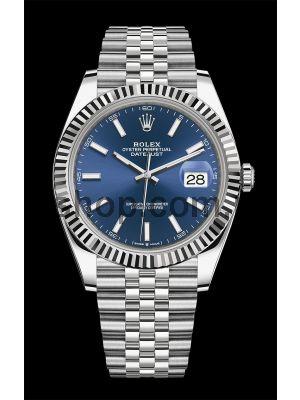 Rolex Datejust  Blue Dial Swiss Watch