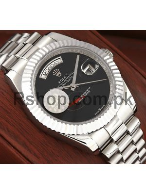 Rolex Day Date Onyx Dial Swiss Watch