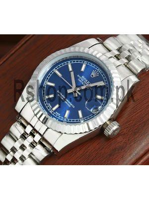 Rolex Datejust Blue Dial Ladies Watch Price in Pakistan